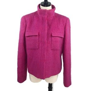Giorgio Armani Pink Red Mohair Wool Jacket Size 46